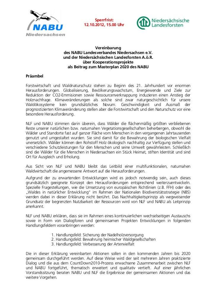 Sperrfrist:                                 12.10.2012, 15.00 Uhr                                      Vereinbarung       ...