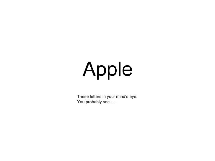 These letters in your mind's eye. You probably see . . .