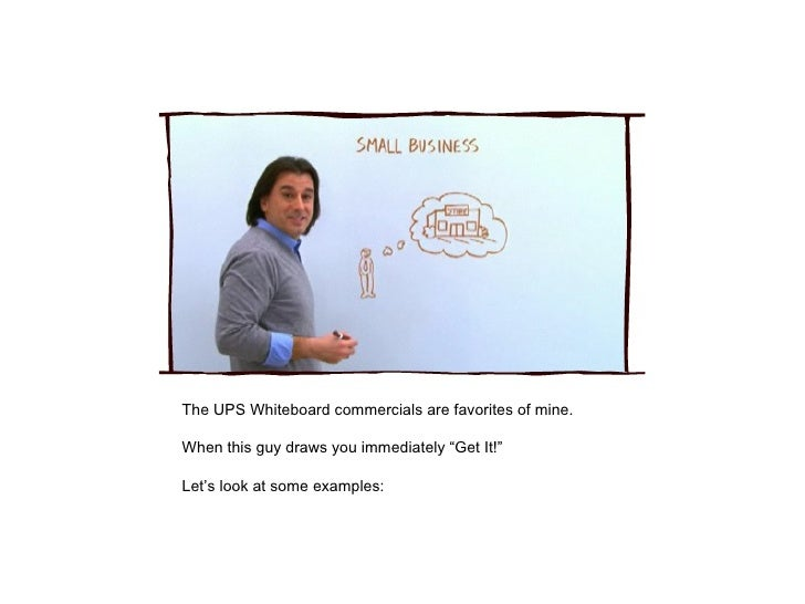 """The UPS Whiteboard commercials are favorites of mine. When this guy draws you immediately """"Get It!"""" Let's look at some exa..."""