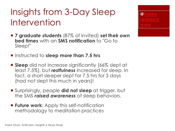 Insights from 3-Day Sleep                                @frankc                                                          ...