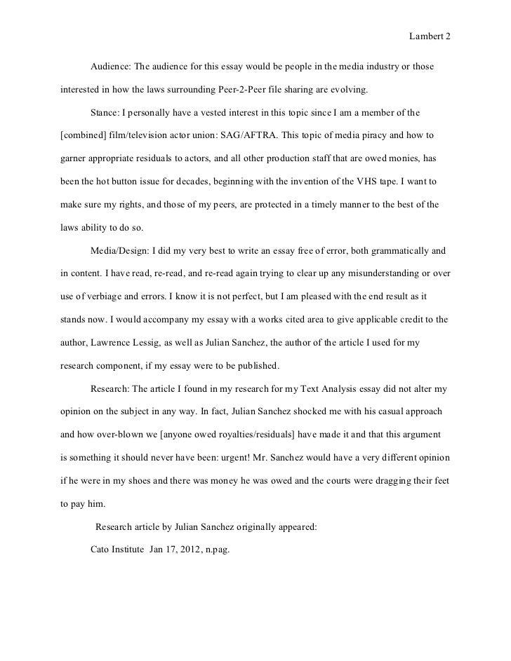 rhetorical situation example essay
