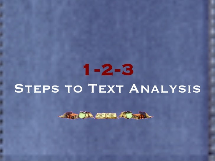 1-2-3 Steps to Text Analysis