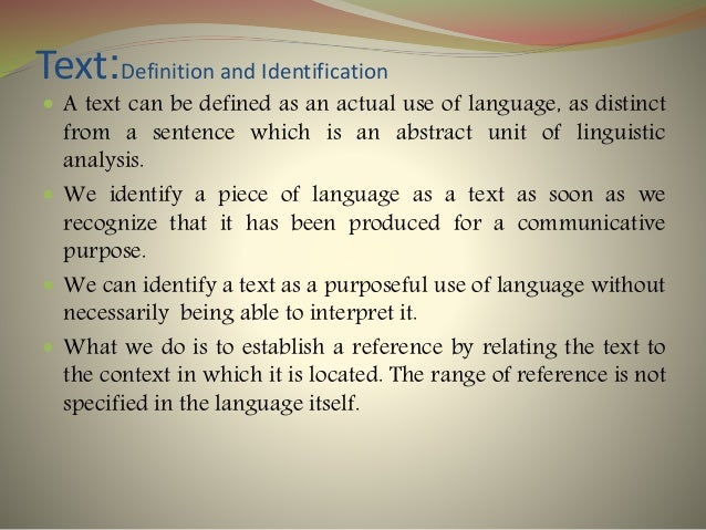 Text : Definition, Elaboration and Examples Slide 2