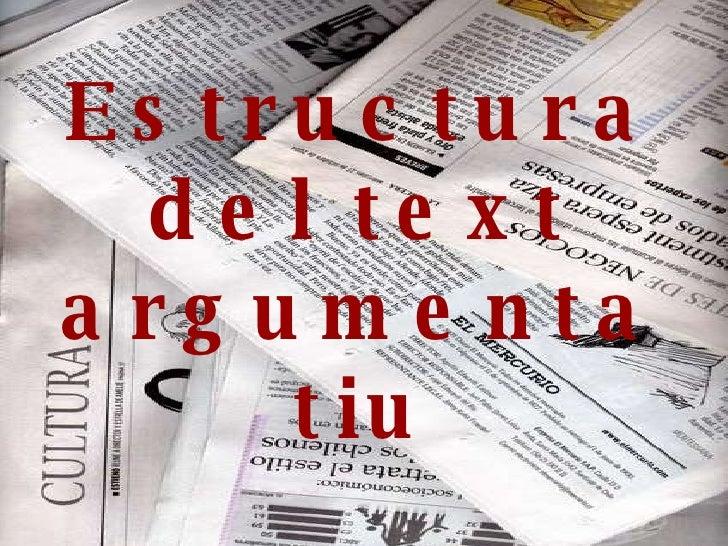 Estructura del text argumentatiu