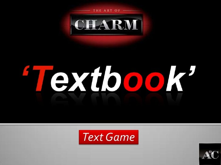 'Textbook'<br />Text Game<br />