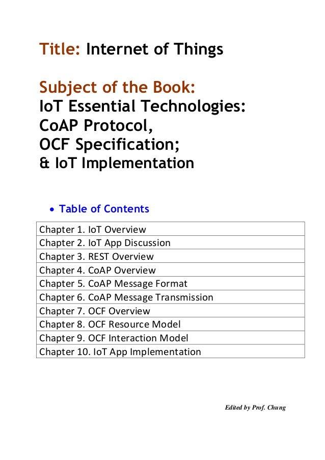 Text Book] IoT Class Material - CoAP, OCF, and IoTivity
