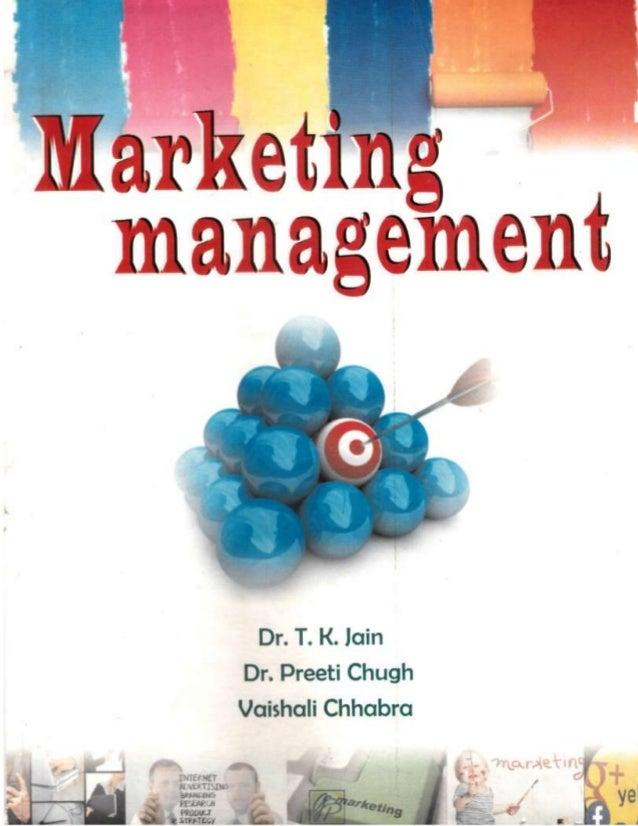 Text book on marketing management published by garima publications jaipur written by professor trilok kumar jain dr preeti...