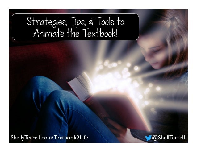 ShellyTerrell.com/Textbook2Life @ShellTerrell Strategies, Tips, & Tools to Animate the Textbook!