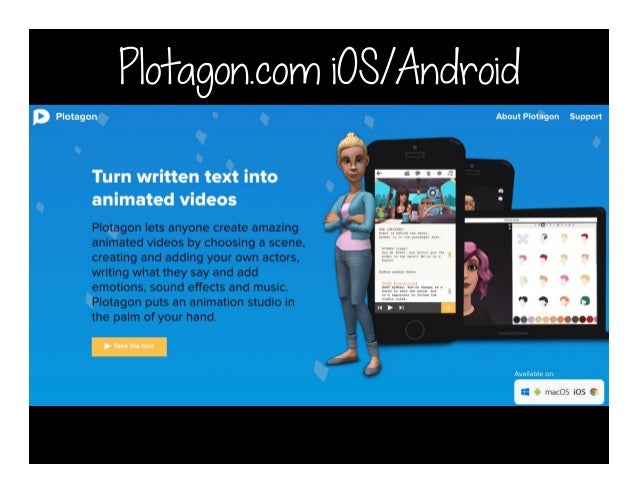 Plotagon com iOS/Android