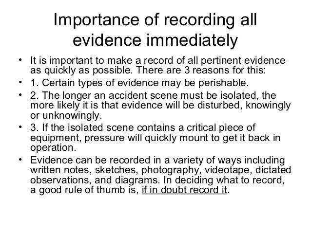 Recording Accidents