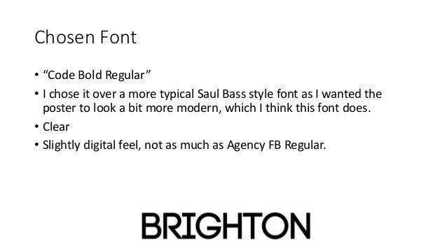 Choosing my font