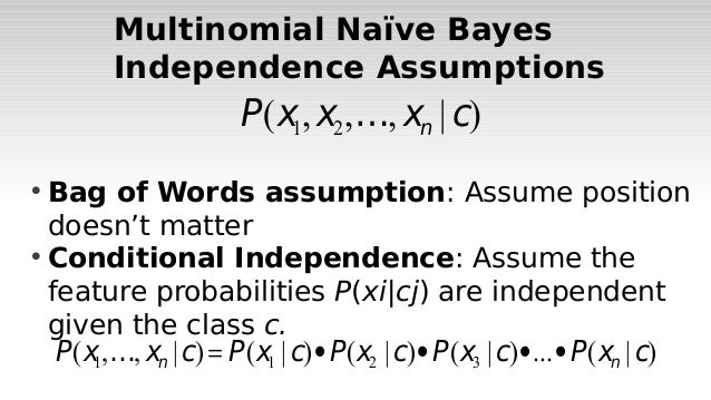 Introduction to text classification using naive bayes