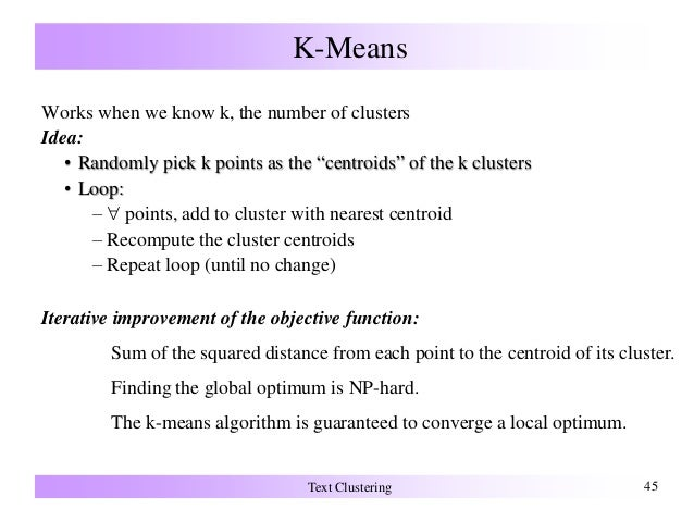 k means clustering numerical example pdf