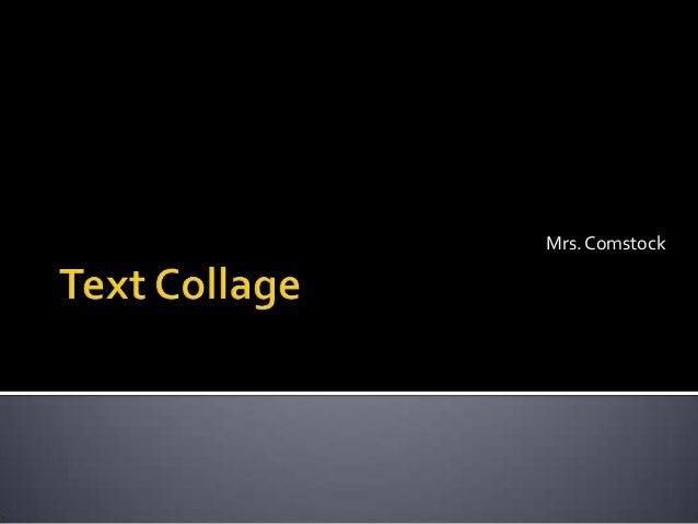 Mrs. Comstock
