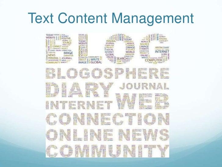 Text Content Management