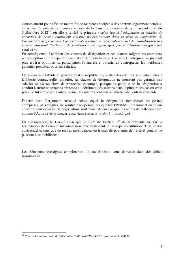S curisation de l 39 emploi saisine du conseil constitutionnel - Chambre sociale de la cour de cassation ...