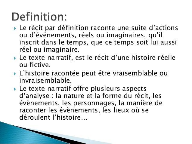 Texte narratif - Definition d une histoire ...