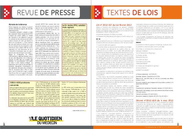 1110 REVUE DE PRESSE TEXTES DE LOIS Période de tolérance. Pressé d'apporter une solution, le gouver- nement a présenté en ...