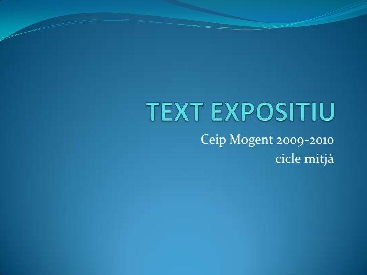 Ceip Mogent 2009-2010             cicle mitjà