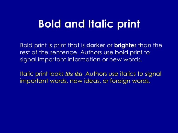 16 Bold And Italic Print