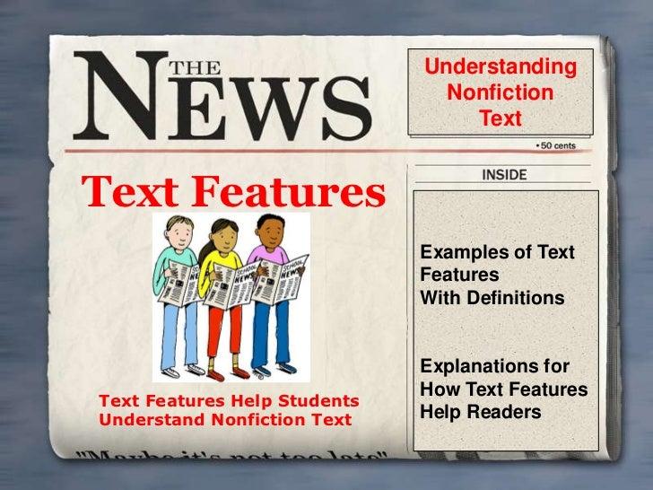 Understanding                                Nonfiction                                  TextText Features                ...