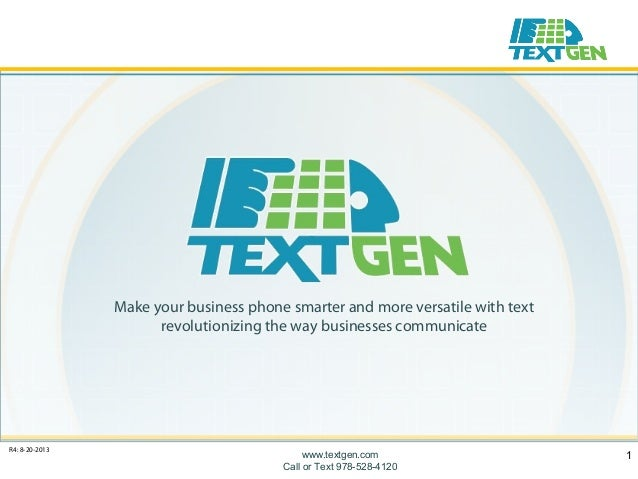 Make your business phone smarter and more versatile with text revolutionizing the way businesses communicate  R4: 8-20-201...
