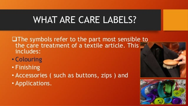 Textile Care Labels Ppt