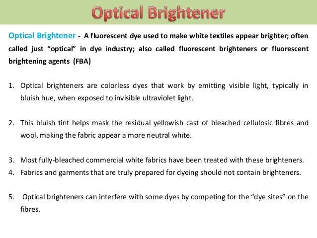 It is almost impossible to remove brighteners once they are applied.  Most commercial laundry detergents contain optica...