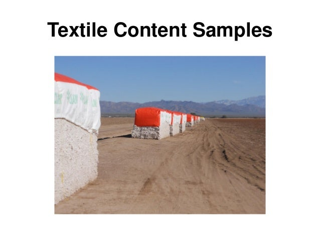 Textile Content Samples