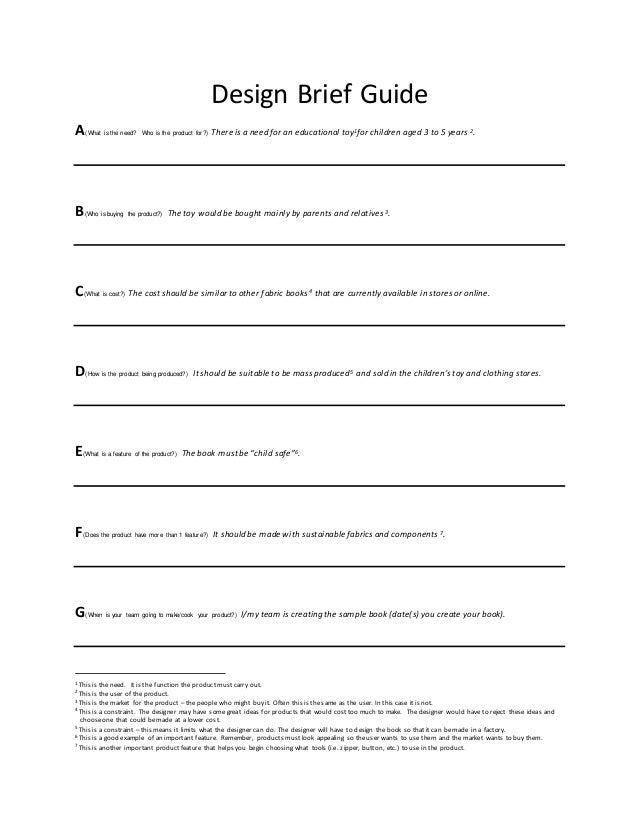 How to write a design brief ib