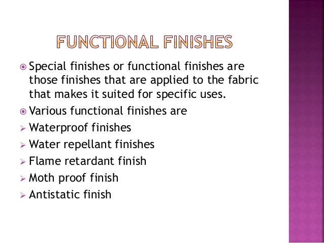 Textile Finishes