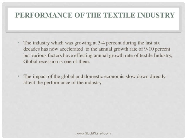 factors affecting textile industry Factors affecting the sustainability of cotton production: changing rural livelihoods in the north  and cotton was an important product for the textile industry.