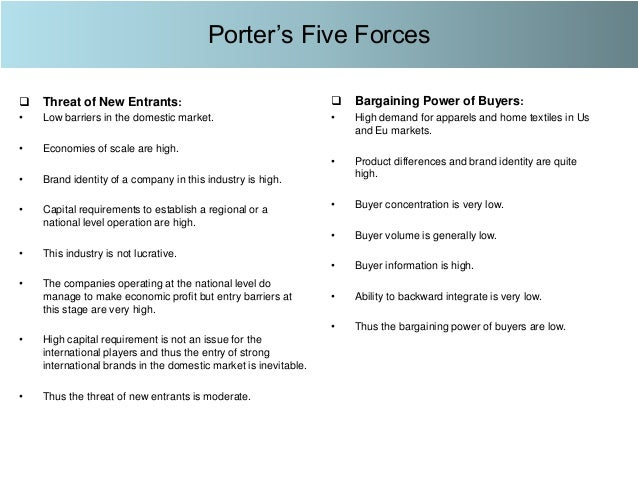 porters five forces example