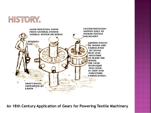 An 18th Century Application of Gears for Powering Textile Machinery