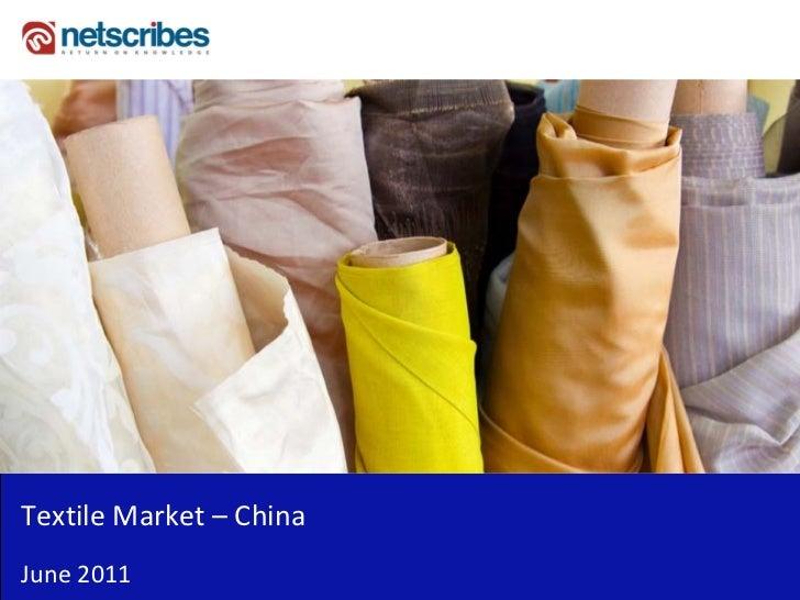 TextileMarket– ChinaJune2011