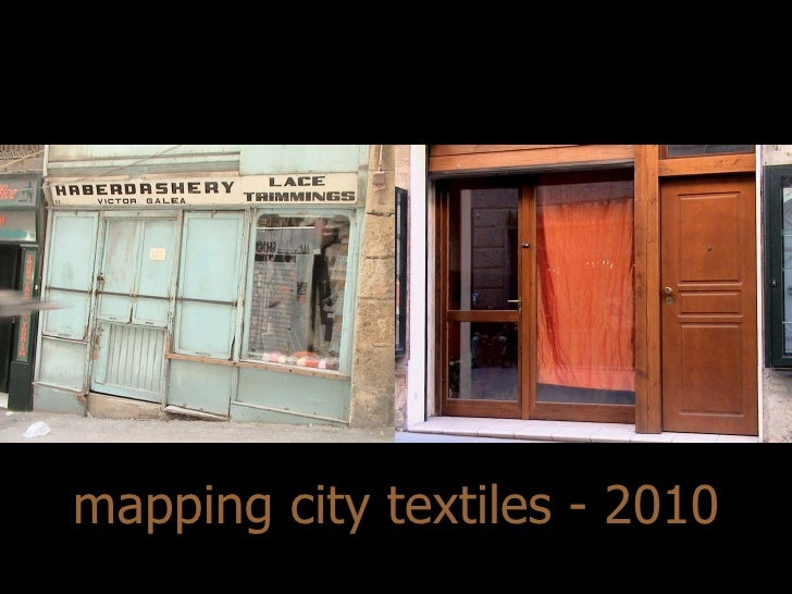 mapping city textiles - 2010