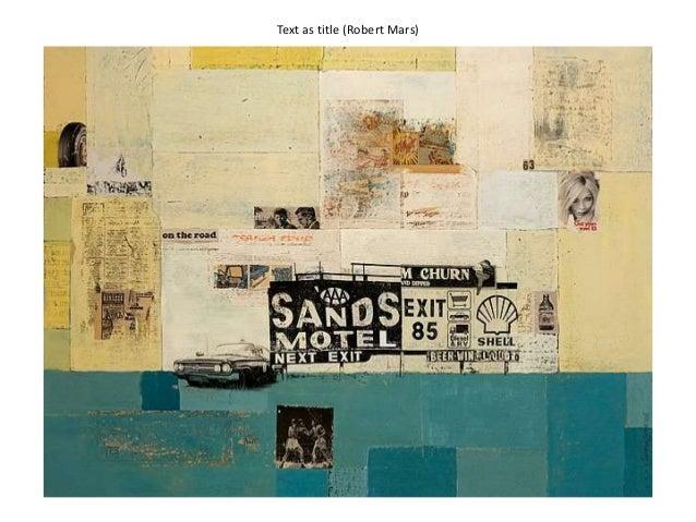 Text as title (Robert Mars)