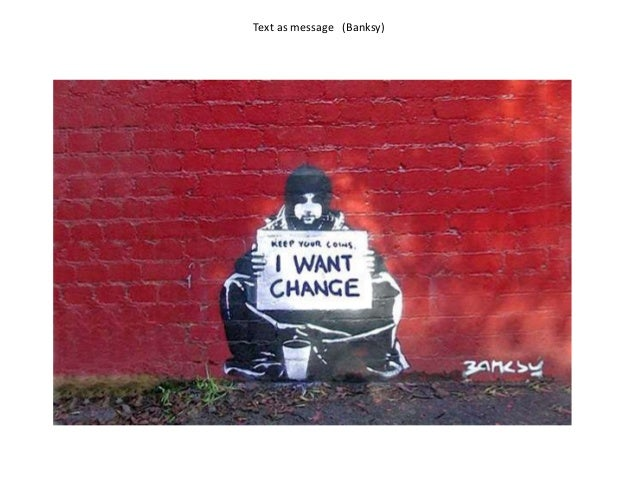 Text as message (Banksy)
