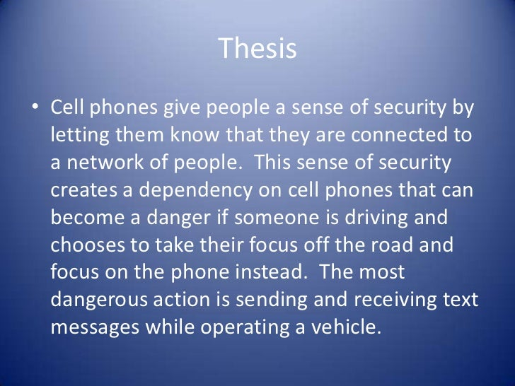 thesis texting while driving Sample expository essay writing about texting while driving free expository essay example on texting while driving written by professional writers read this.