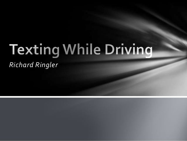 a thesis statement for texting while driving Is it really that important to stay connected during every hour of the day  according to ian mulgrew, a journalist/author from canada, many.