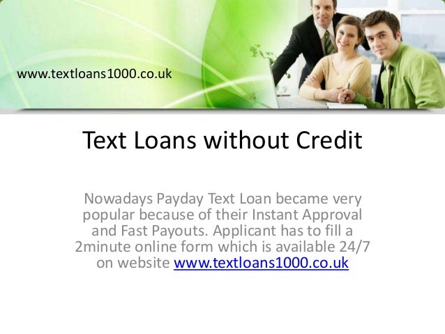 instant text loans