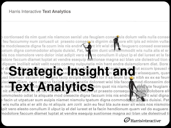 Harris Interactive Text Analytics      Click to edit Master title style     Strategic Insight and Text Analytics