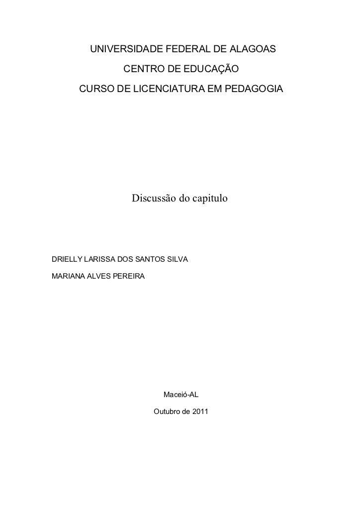 Discussão do capítulo