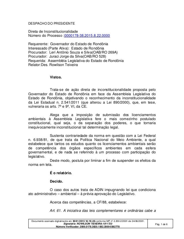 Documento assinado digitalmente em 30/01/2015 16:19:49 conforme MP nº 2.200-2/2001 de 24/06/2001. Signatário: ROWILSON TEI...