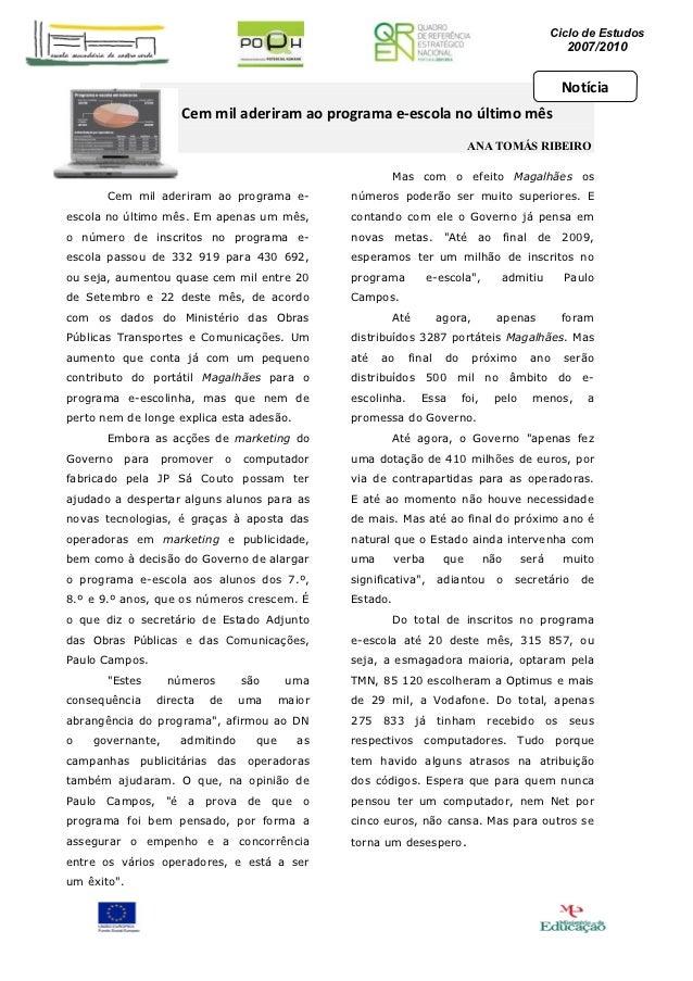 Ciclo de Estudos                                                                                                          ...