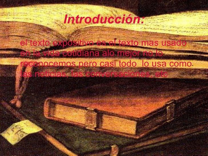 Texto Expositivo Slide 2
