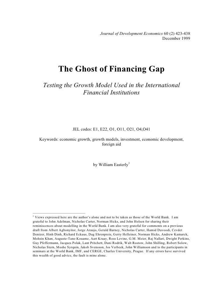 Journal of Development Economics 60 (2) 423-438                                                                           ...