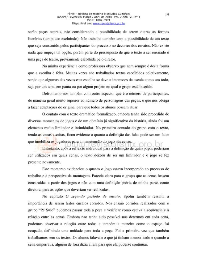 Fênix – Revista de História e Estudos Culturais Janeiro/ Fevereiro/ Março / Abril de 2010 Vol. 7 Ano VII nº 1 ISSN: 1807-6...