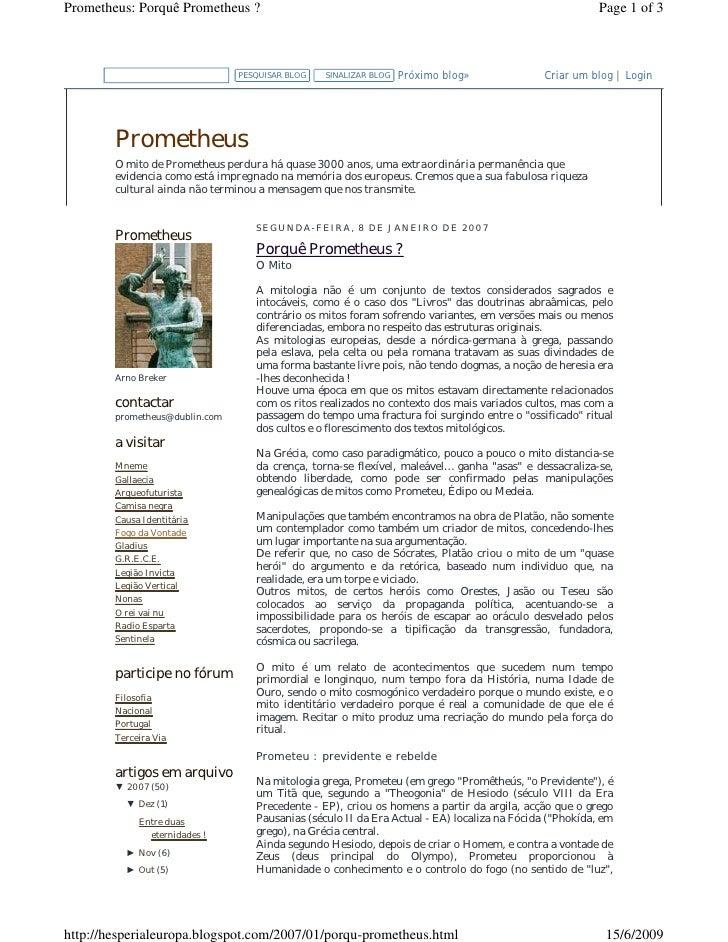 Prometheus: Porquê Prometheus ?                                                                          Page 1 of 3      ...