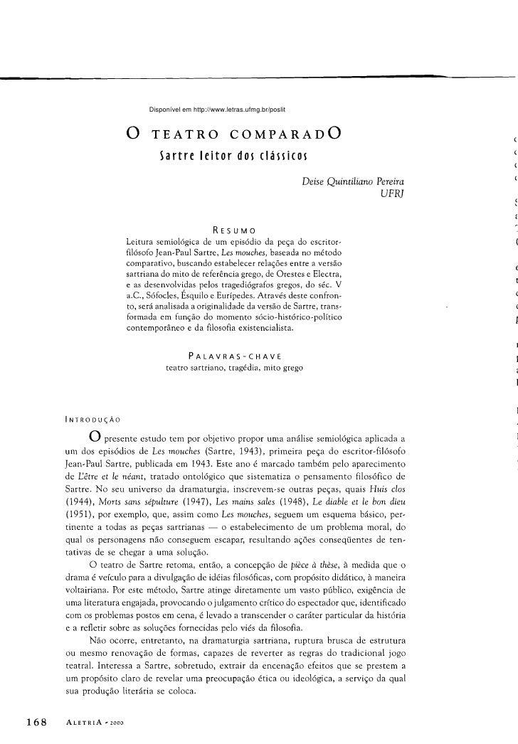 Disponível em http://www.letras.ufmg.br/poslit                          o TEATRO                        COMPARADO        ...